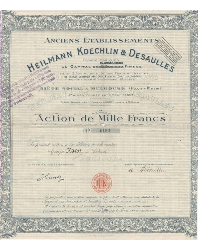 Anciens Ets Heilmann, Koechlin & Desaulles (F/VF) Alsace/Haut-Rhin 68