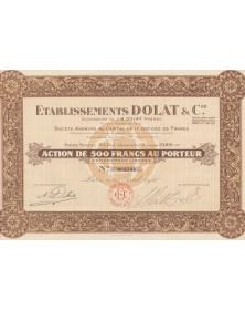 Ets Dolat & CIe - Successeurs de J.B. Dolat Frères