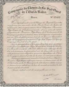 Cie. du Ch. de Fer Sud-Ouest de L'Etat de Bahia