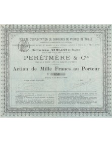 Perêtmère & Cie, Sté d'Exploitation de Carrières de Pierres de Taille