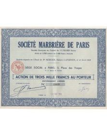 Sté Marbrière de Paris