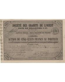 Sté des Granits de l'Ouest Paul Le Pelletier et Cie