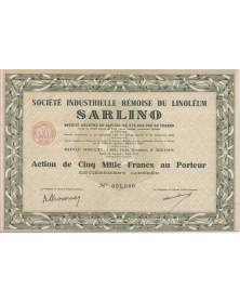 Sté Industrielle Rémoise du Linoléum SARLINO