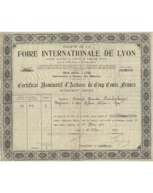 Sté de la Foire Internationale de Lyon