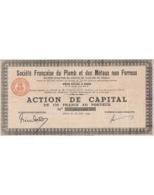 Sté Française du Plomb et des Métaux Non Ferreux