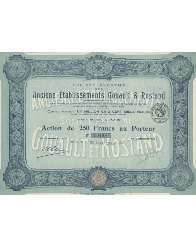 S.A. des Anciens Gouault & Rostand