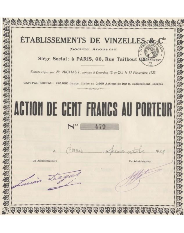 Ets de Vinzelles & Cie (combustibles)