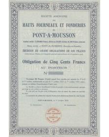 S.A. des Hauts Fourneaux et Fonderies de Pont-à-Mousson Lorraine/Meurthe-et-Moselle 54