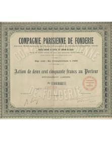 Cie Parisienne de Fonderie, Anc. Ets de Fleury & Labruyère et Fonderie Ardennaise réunis