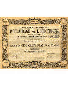 Cie Parisienne d'Eclairage par l'Electricité