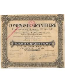 Cie Granitière Ets Georges Regnault