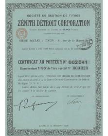 Zenith Detroit Corporation, Sté de Gestion de Titres