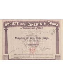 Sté des Ciments & Chaux d'Angoulins-sur-Mer (Charente-Maritime)