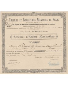 Tuileries et Briqueteries Mécaniques de Pissos (Landes)