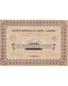 Cie des Claridge's Hôtels