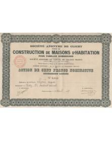 S.A. de Clichy pour la Construction de Maisons d'Habitation pour Familles Nombreuses