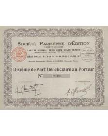 Sté Parisienne d'Edition
