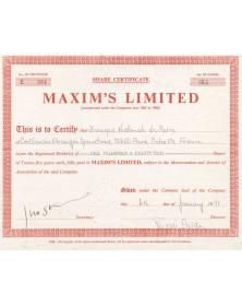 Maxim's Limited