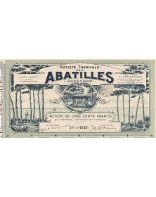 Sté Thermale des Abatilles, source Arcachon Gironde