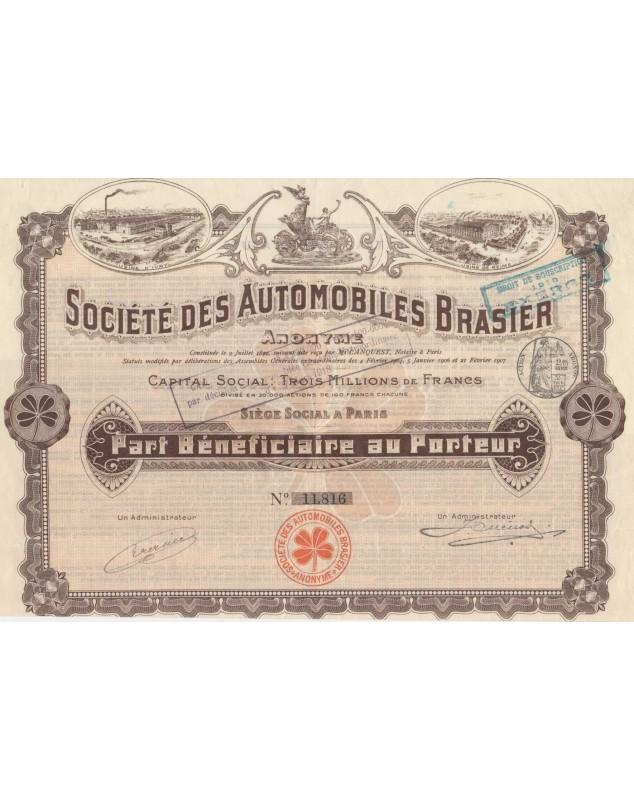 Sté des Automobiles Brasier