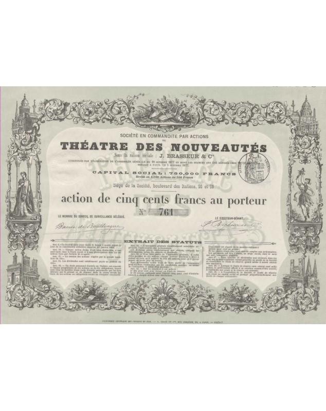 Théatre des Nouveautés, J. Brasseur & Cie