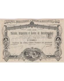S.A. des Tuileries, Briqueteries et Kaolins de Boissières (Lot)