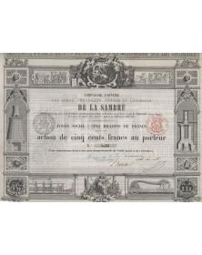 Cie Anonyme des Mines, Fourneaux, Forges et Laminoirs de la Sambre