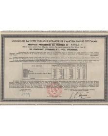 Conseil de la Dette Publique répartie de l'ancien Empire Ottoman - Pêcheries