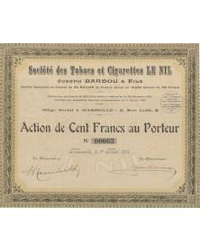 Sté des Tabacs et Cigarettes LE NIL, Jospeh Bardou & Fils