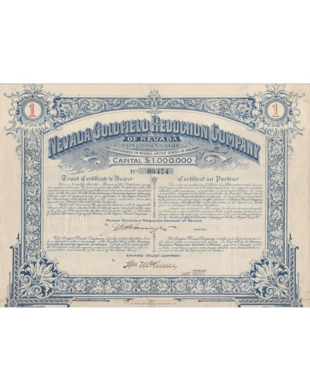 Nevada Goldfield Reduction Company of Nevada