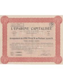 L'Epargne Capitalisée