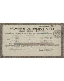 Province de Buenos Aires,Emprunt extérieur4,5% 1911