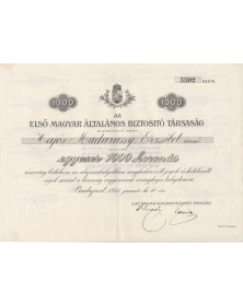 Elsö Magyar Általános Biztositó Társaság (Insurance Co.)