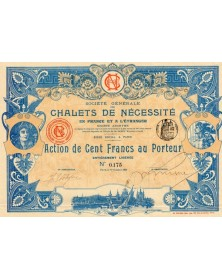 Sté Générale des Chalets de Nécessité en France et à l'Etranger