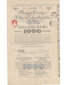 Magyar Orszagos Kösponti Takarékpénztar 4% Zaloglevel