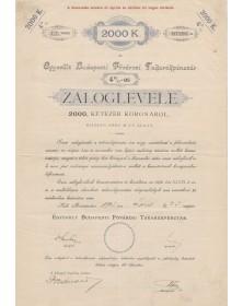 Banque d'Epargne de Budapest - 4% 2000Kr