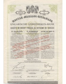 Sté du Crédit Foncier du Royaume de Hongrie à Budapest