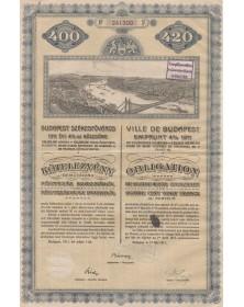 Ville de Budapest - Emprunt 4% 1911