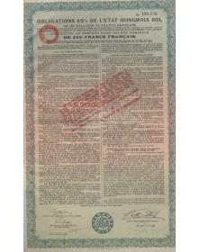 Royaume de Hongrie - Emprunt 6% 1925