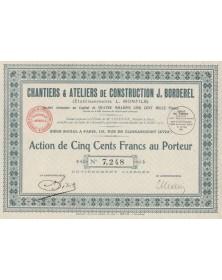 Chantiers & Ateliers de Construction J. Borderel (Ets L. Monfils)