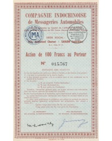 Cie Indochinoise de Messageries Automobiles (CIMA)