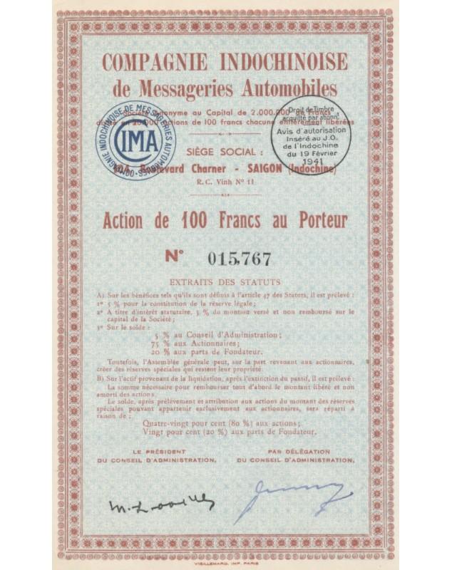 Cie Indochinoise de Messageries Automobiles (CIMA)