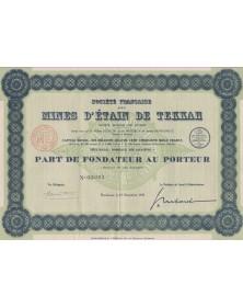 Sté Française des Mines d'Etain de Tekkah