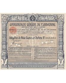 Gouvernement Général de l'Indochine - Emprunt 5,5% 1937