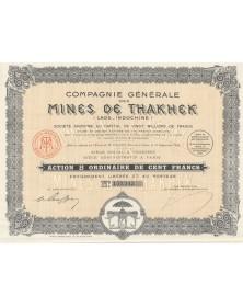 Cie des Mines de Thakhek