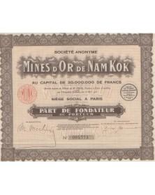 Mines d'Or de Nam Kok
