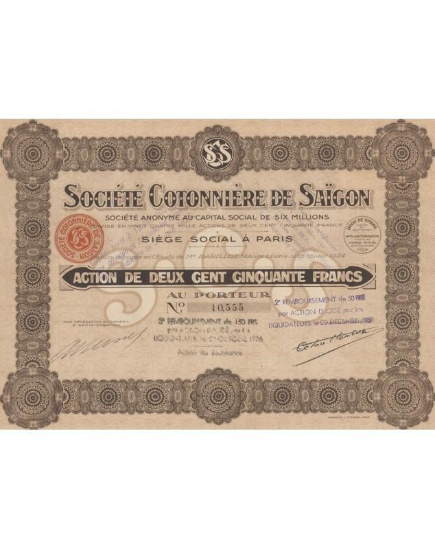 Sté Cotonnière de Saigon