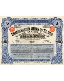Consolidated Mines of El Oro Ltd. (Mexique)