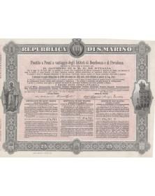 République de Saint-Marin - Repubblica di S. Marino - Emprunt à Primes