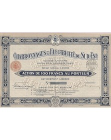 Charbonnages & Electricité du Sud-Est, Anc. Cie Minière du Sud-Est